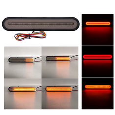 3 in 1 28 LED Flowing Reverse Stop Brake Turn Signal Rear Tail Lights Truck Trailer RV