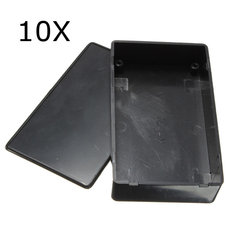 10Pcs Black Plastic Electronic Box Instrument Case 100x60x25mm Junction Case