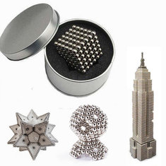 216Pcs 5mm Sliver DIY Neo Cube Magic Beads Magnetic Balls Puzzle With Box