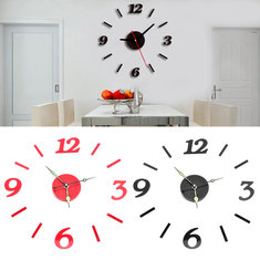 Acrylic 3D Numbers Mirror Sticker Wall Clock Modern Art Decal Home Room Decor