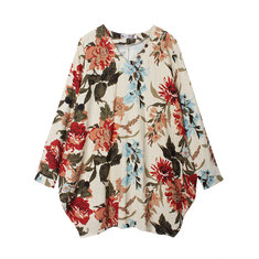Women Pretty Floral Print Asymmetry Dress