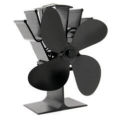 4 Blades Fireplace Fan Thermal Heat Power Stove Fan Wood Burner Fan