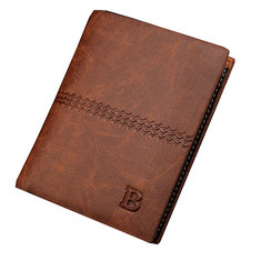 Vertical Mens Wallet Male Money Purses Soft ID Card Case