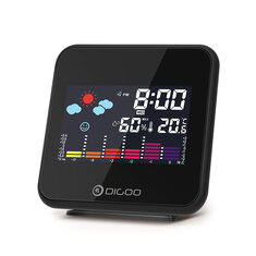 Digoo DG-C15 Digital Mini Wireless Color Backlight Weather Forecast Station USB Hygrometer Humidity Thermometer Temperature Weather Station Alarm Clock