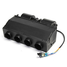 BEU-404-000 AUTO A/C Black Car Warming Evaporator Truck Heater Three Retaining Wind 12V Under Dash