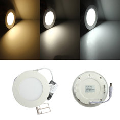 6W Round Ceiling Ultra Thin Panel LED Lamp Down Light Light 85-265V