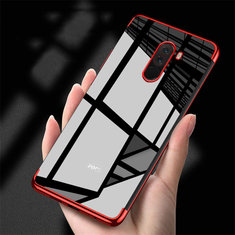 Bakeey™ Color Plating Transparent Soft TPU Back Cover Protective Case for Xiaomi Pocophone F1