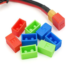 Fishbonne 3D Printed XT60 Battery Plug Protection Cap Case Green Blue Red for RC Drone FPV Racing