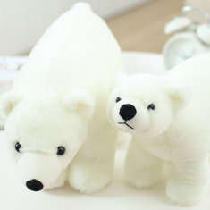 9/14 Inch Polar Bear Stuffed Animal Plush Toys Doll for Kids Baby Christmas Birthday Gifts