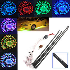 7 Color LED Under Car Glow Underbody Remote System Neon Light Kit