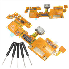 USB Charging Charger Port Connector Flex Cable Ribbon Replacement With Tool For ZTE Blade V6