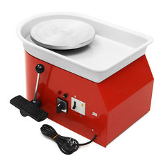 220V Electric Pottery Wheel 25cm Pottery Forming Machine DIY Clay Ceramic Machine Variable Speed