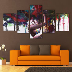 5Pcs Abstract Couple Canvas Print Paintings Pictures Home Wall Art Decor Unframed