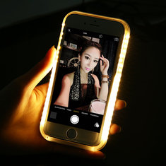 Luminous LED Flashlight Selfie Case Cover For iPhone 6 Plus 6s Plus 5.5