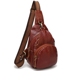 c664781836a0 Genuine Leather Chest Bags Retro Shoulder Bags Vintage Crossbody Bags