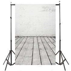 5x7ft 2.1mx1.5m Wood Floor Brick Wedding Theme Studio Props Photography Background