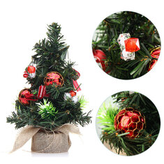 Christmas Home Party Decorations Supplies Mini Christmas Tree With Ornaments Toys