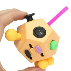 EDC 12 Sides Stress Magic Dice Fidget Anxiety Stress Attention Relief Puzzle Cube Gadgets