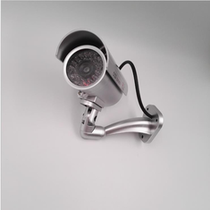 Emulational Fake Dummy CCTV Outdoor Security Camera with 29 Red Flashing Light