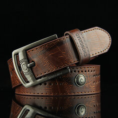110CM Mens PU Leather Cowboy Belt