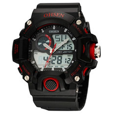 OHSEN AD2808 Sport Analog Digital Watch Waterproof Army Military Men Wrist Watch
