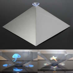 3D Holographic Hologram Display Pyramid Stand Projector Creative Gifts For Tablet Phone