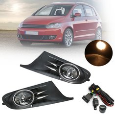 Front bumper fog lights buy cheap front bumper fog lights from front bumper grille fog light lamp with harness switch for vw golf jetta mk6 08 fandeluxe Image collections