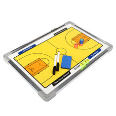 Double-Sided Magnetic Basketball Tactical Board Training Guidance With Carry Bag