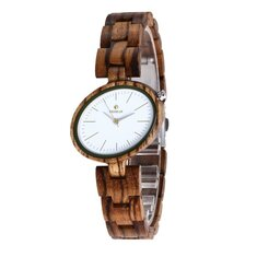 REDEAR SJ1680 Lightweight Wood Band Quartz Women Watches
