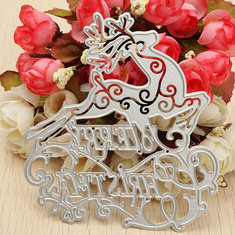 Merry Christmas Deer Memory Box cutting Dies DIY Scrapbooking Album Cards Paper