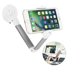360 Degree Rotation Foldable Lazy Holder Car Suction Cup Mount Phone Stand for iPhone X 8 Samsung S8