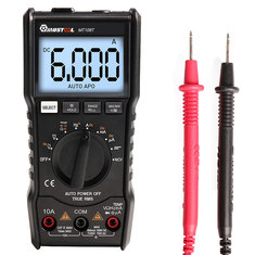 MUSTOOL MT108T Square Wave Output True RMS NCV Temperature Tester Digital Multimeter 6000 Counts Backlight AC DC Current/Voltage Resistance Frequency Capacitance