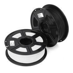 1.75mm 1kg Black/White Plastic PLA Material For 3D Printer Filament