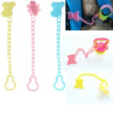 Baby Newborn Kids  Character Pacifier Animal Dummy Pacifier Feed Soother Nipple Toy Chain Clip Buckle Holder