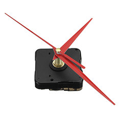 Wall clock movement mechanism buy cheap wall clock movement 5pcs 20mm shaft length diy red triangle hands silent quartz wall clock movement mechanism for replacement fandeluxe Choice Image