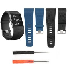 Replacement Silicone Band WrisT-strap Wristband With 2 Screwdrivers For Fitbit Surge Tracker