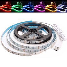 3M Waterproof USB SMD3528 TV Background Computer LED Strip Tape Flexible Light DC5V