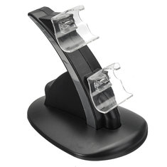 DC5V LED Light Indicator Dual Controller Charging Stand Station for Xbox One Ones