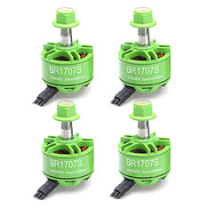 4X Racerstar 1707 BR1707S Green Edition 3000KV 2-3S Brushless Motor For RC Drone FPV Racing Frame