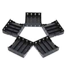 5PCS High Strength Battery Plastic Case Holder for 4x3.7V 18650 Li-ion batteries