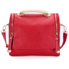 Women PU Vintage Crossbody Bags Crown Retro Shoulder Bags