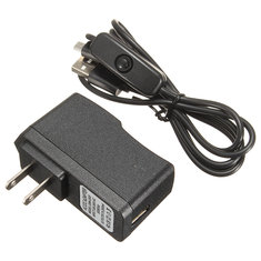 10pcs 5V 2.5A US Plug Power Supply Adapter ON/OFF Switch For Raspberry Pi 3
