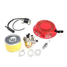 Lawnmower Carburetor Recoil Air Filter Ignition Coil Plug For Honda GX240 8HP GX270 9HP