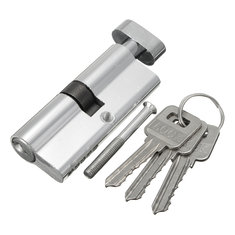Aluminum Home Safety Lock Cylinder Door Cabinet Lock With 3 Keys 89×29mm
