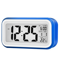 Digital LCD Display Alarm Clock With 12/24 Hour Switchable Time Date Week Temperature Night Lights