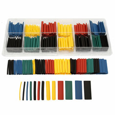 280pcs Assortment Ratio 2:1 Heat Shrink Tubing Tube Sleeving Wrap Kit with Box
