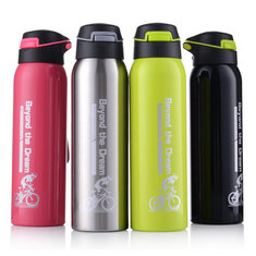 Portable 304 Stainless Steel 500ML Drink Water Bottle Insulated With Straw Water Bottle