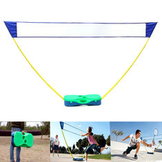 3 in 1 Outdoor Sport Badminton Tennis Volleyball Net Portable Stand Battledore Set