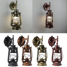 Retro Antique Vintage Exterior Lantern Wall Lamp Bar Cafe Sconce Lighting Fixture