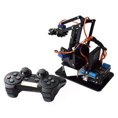 Acrylic Remote Control Robot Arm 4DOF With Arduino PS2 RC Robot Toys - Acrylic-Remote-Control-Robot-Arm-4DOF-With-Arduino-PS2-RC-Robot-Toys , Acrylic Remote Control Robot Arm 4DOF With Arduino PS2 RC Robot Toys